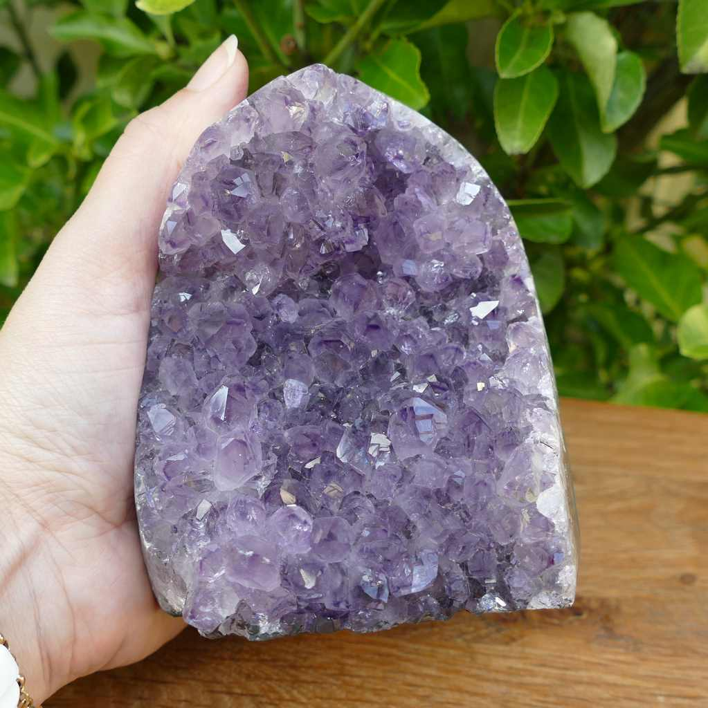 Amethyst Crystal Cluster with Cut Base