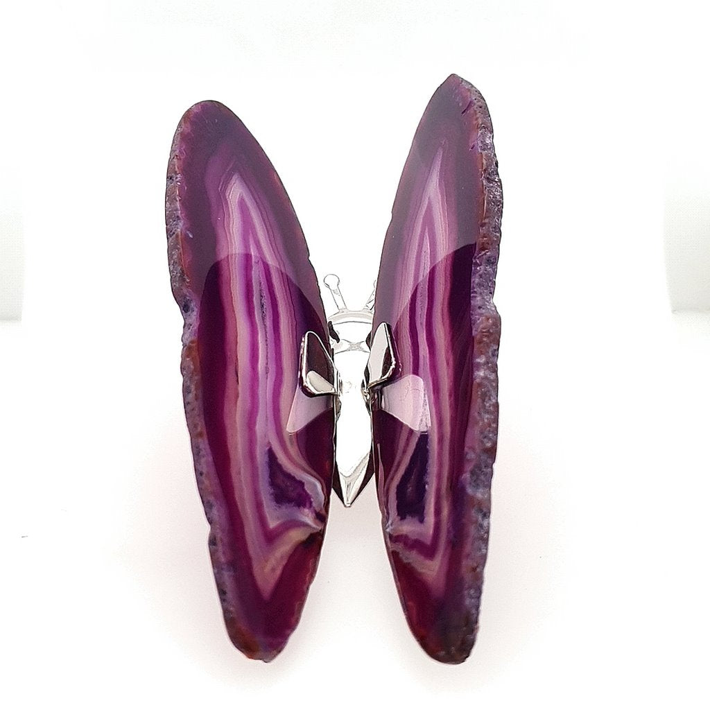 Agate Butterfly Purple Agate - No.5