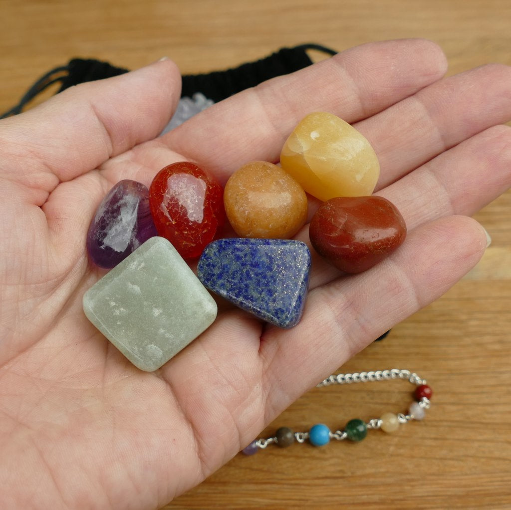 11 pieces Healing Crystals Kit - 7 Chakras Set