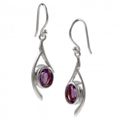 amethyst earrings faceted