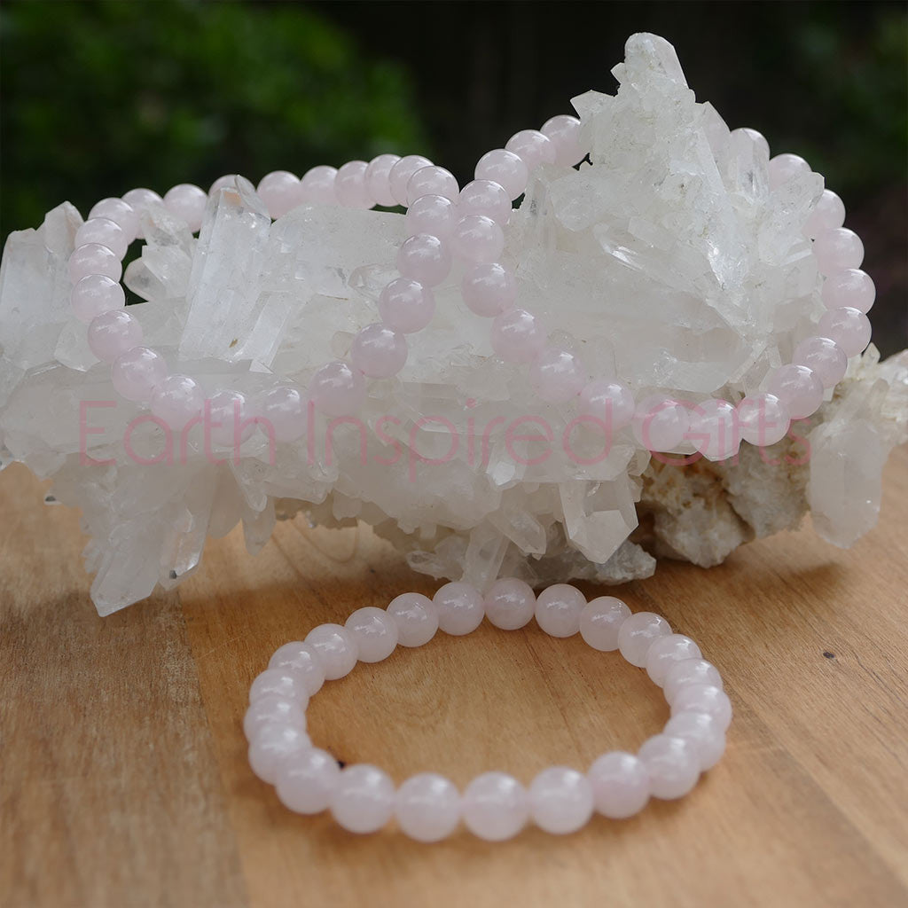girls rose quartz bracelet