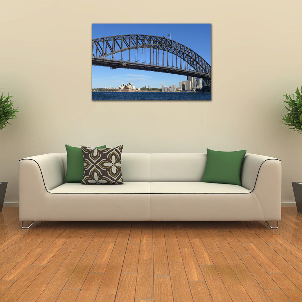Sydney Harbour Bridge with Opera House Printed on Canvas