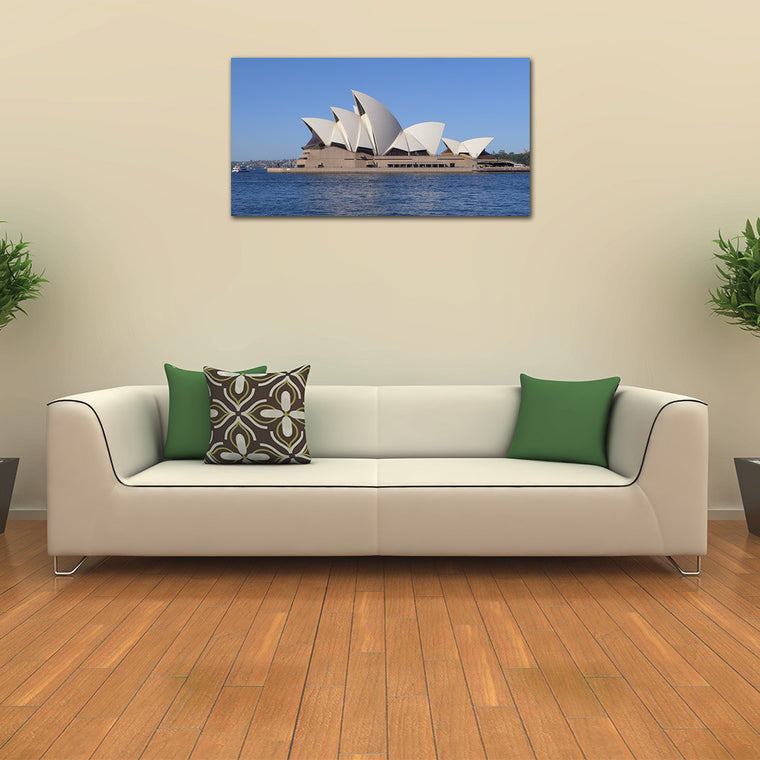 Sydney Opera House with Perfect Blue Skies on a Canvas Print