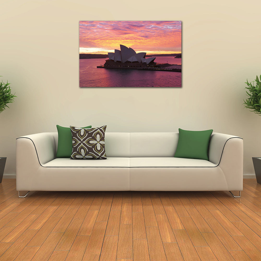 Majestic Sydney Opera House Sunrise on Canvas Print