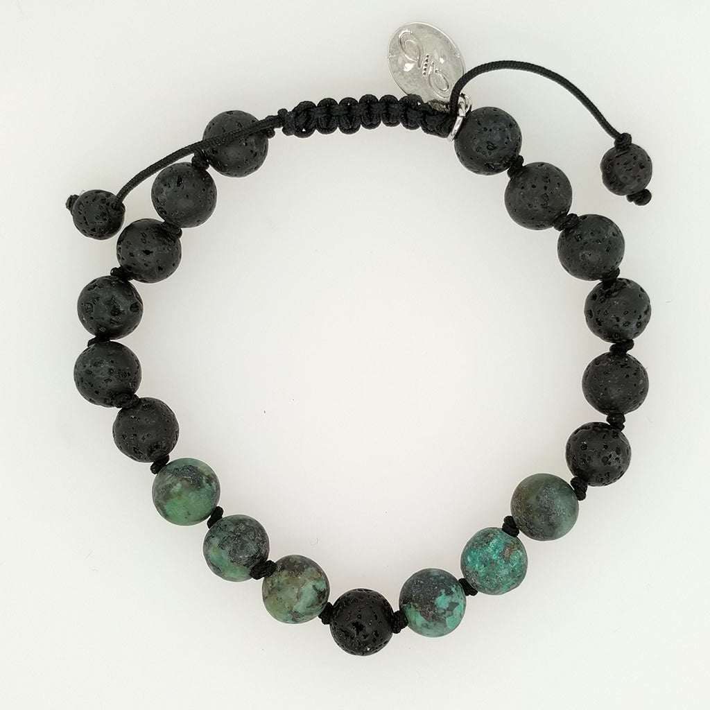 African Turquoise Healing Bracelet with aroma oils