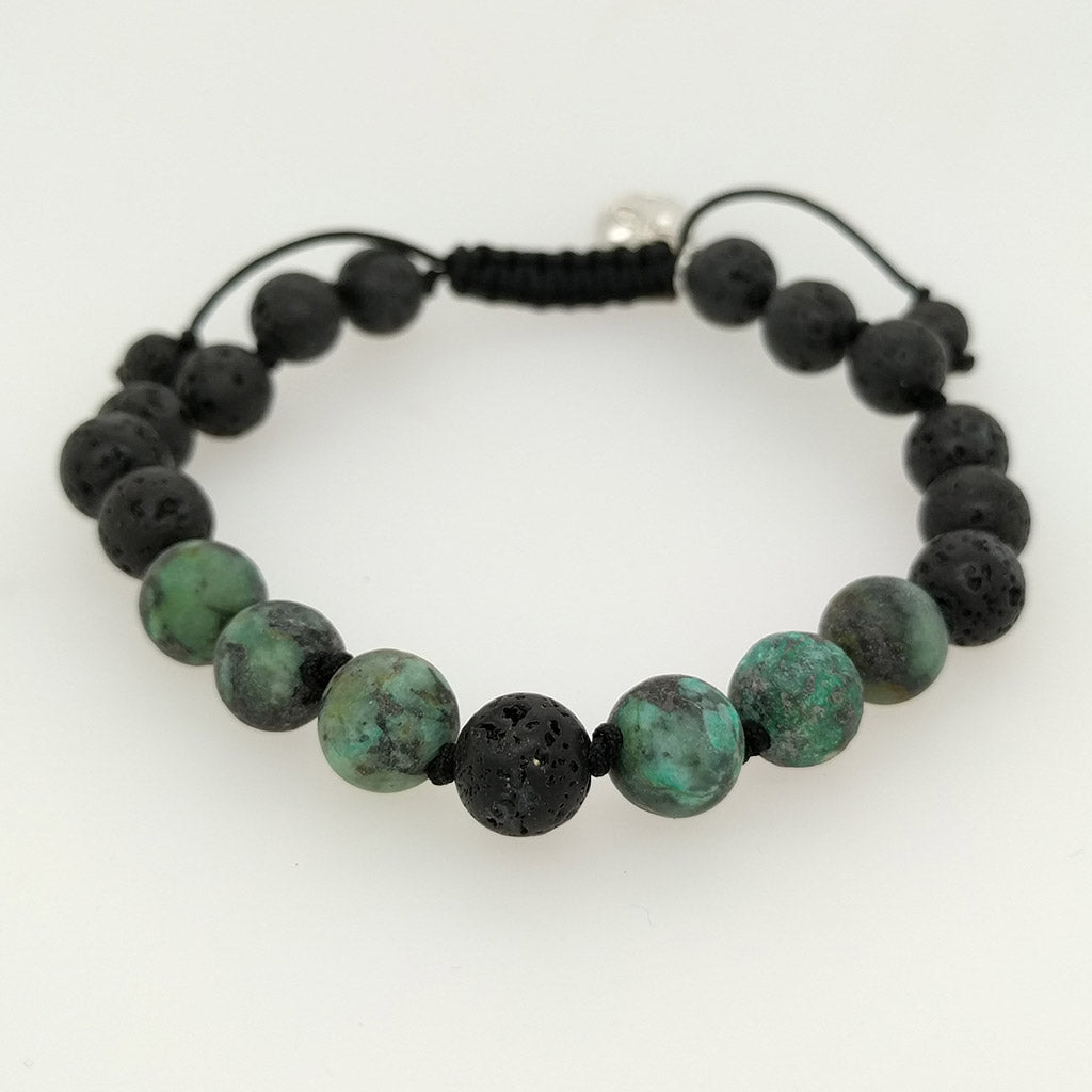 aroma oil healing bracelets with lava stone
