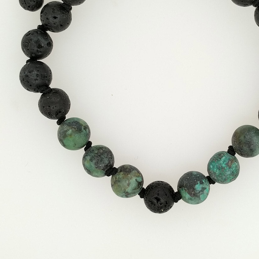 aroma oil healing bracelets with lava stone gift set