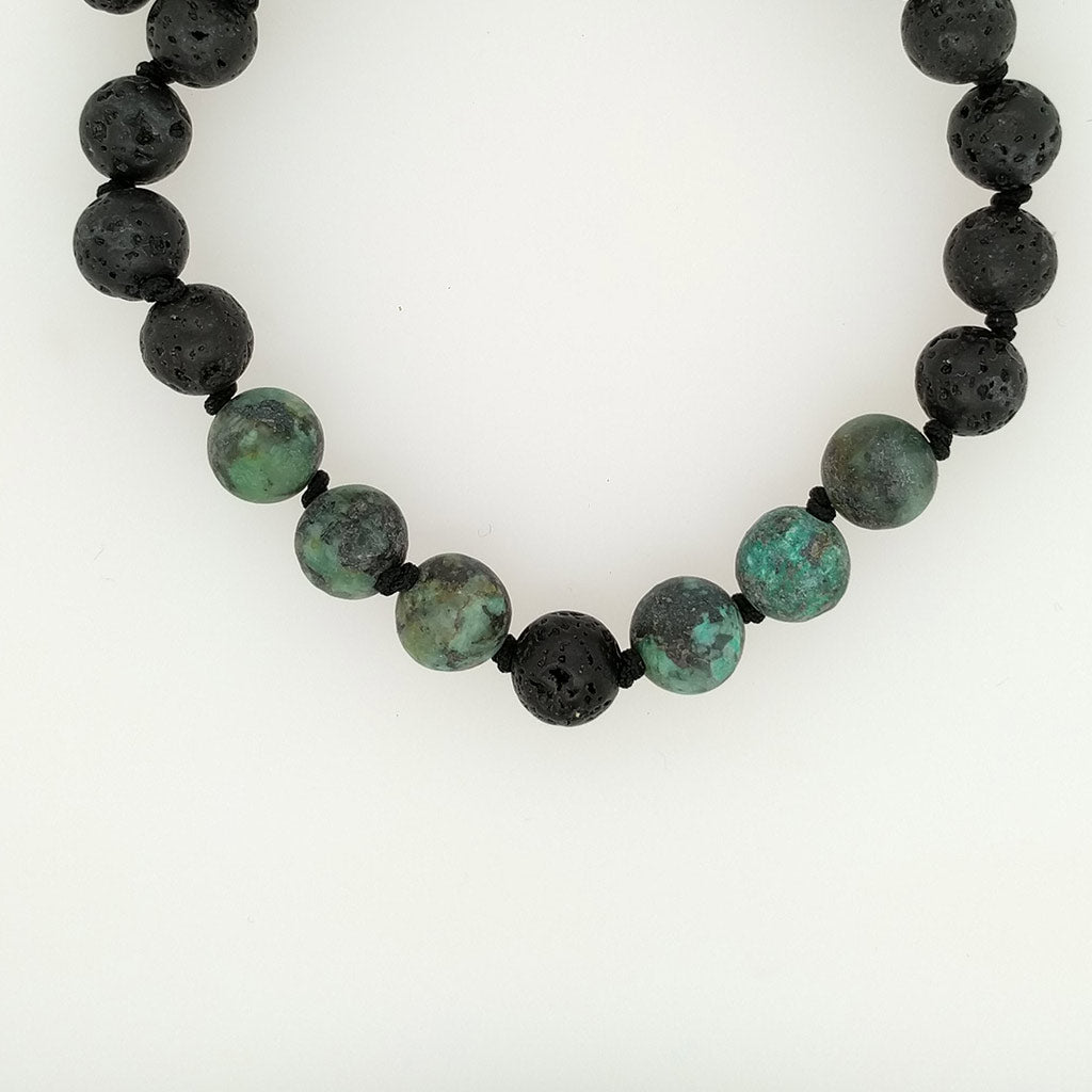 aroma oil healing bracelet with turquoise stones