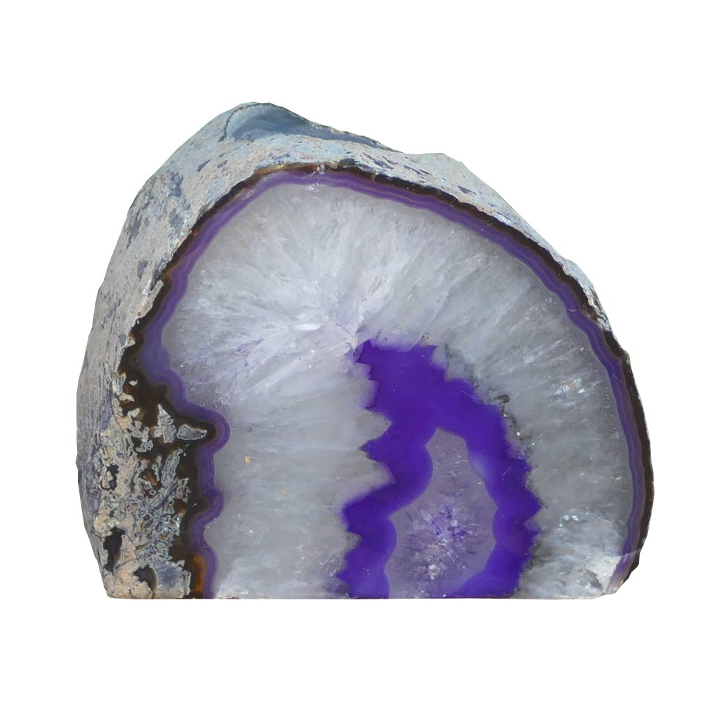 purple agate candle holder
