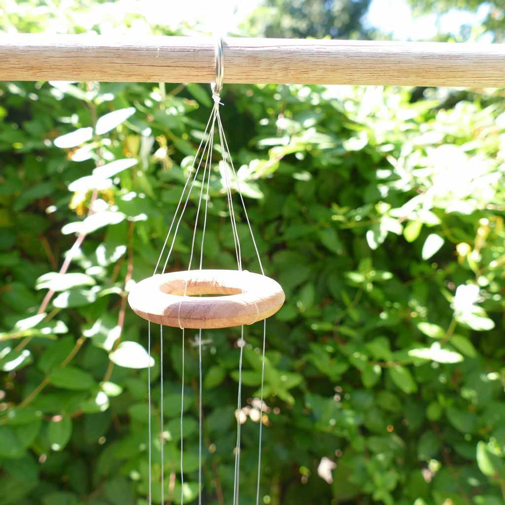 Agate Wind Chime - Blue Stars and Moons