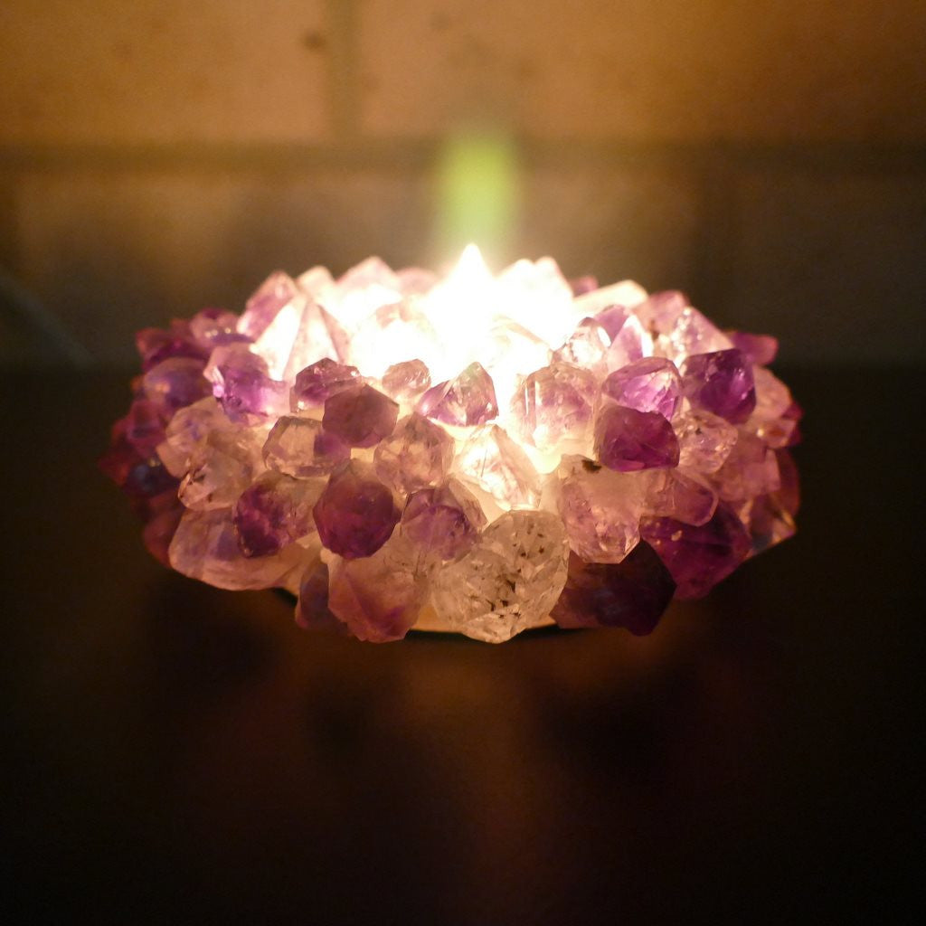 Amethyst Tealight Candle Holders