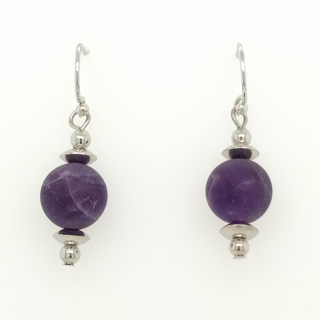 Amethyst Drop Earrings Naturals Range