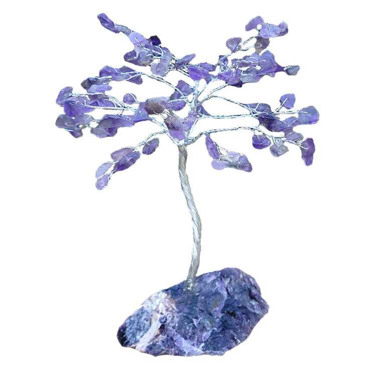 Crystal Gem Tree - Amethyst on a Amethyst base