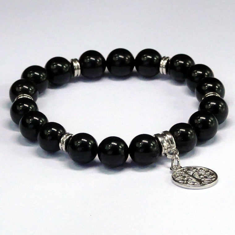 Black Obsidian Bracelet with charm