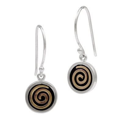 Bronze Spiral Earrings sterling silver