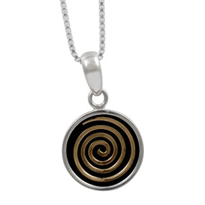 Bronze Spiral Pendant designed by Blue Turtles