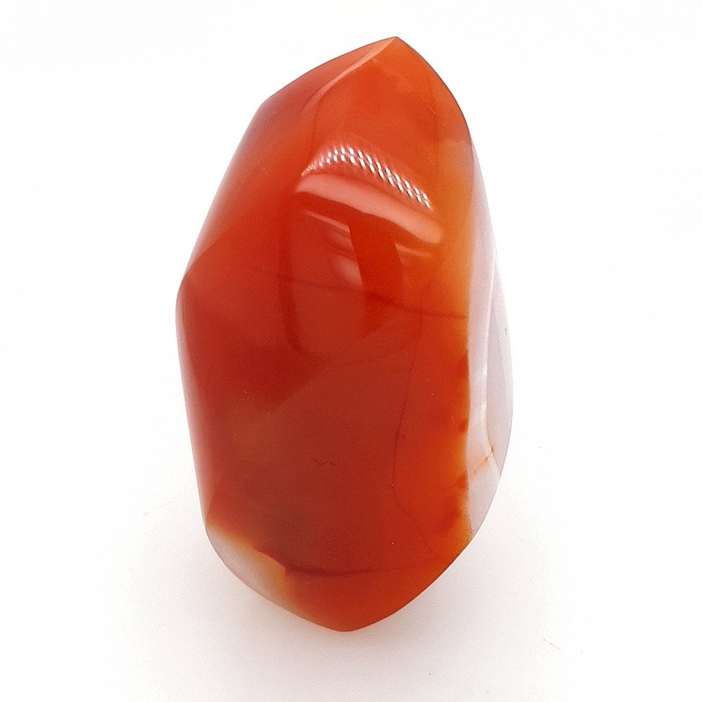 Carnelian Flame Polished Carved Stone for Energy Healing & Home Decor