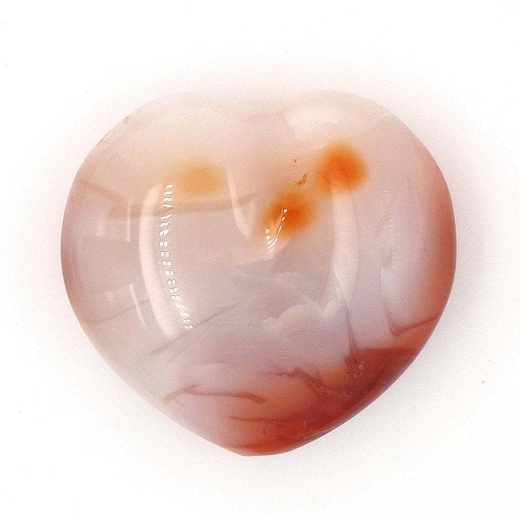 Carnelian Crystal Heart - Gemstone for Anxiety and a Great Energy Healing Crystal