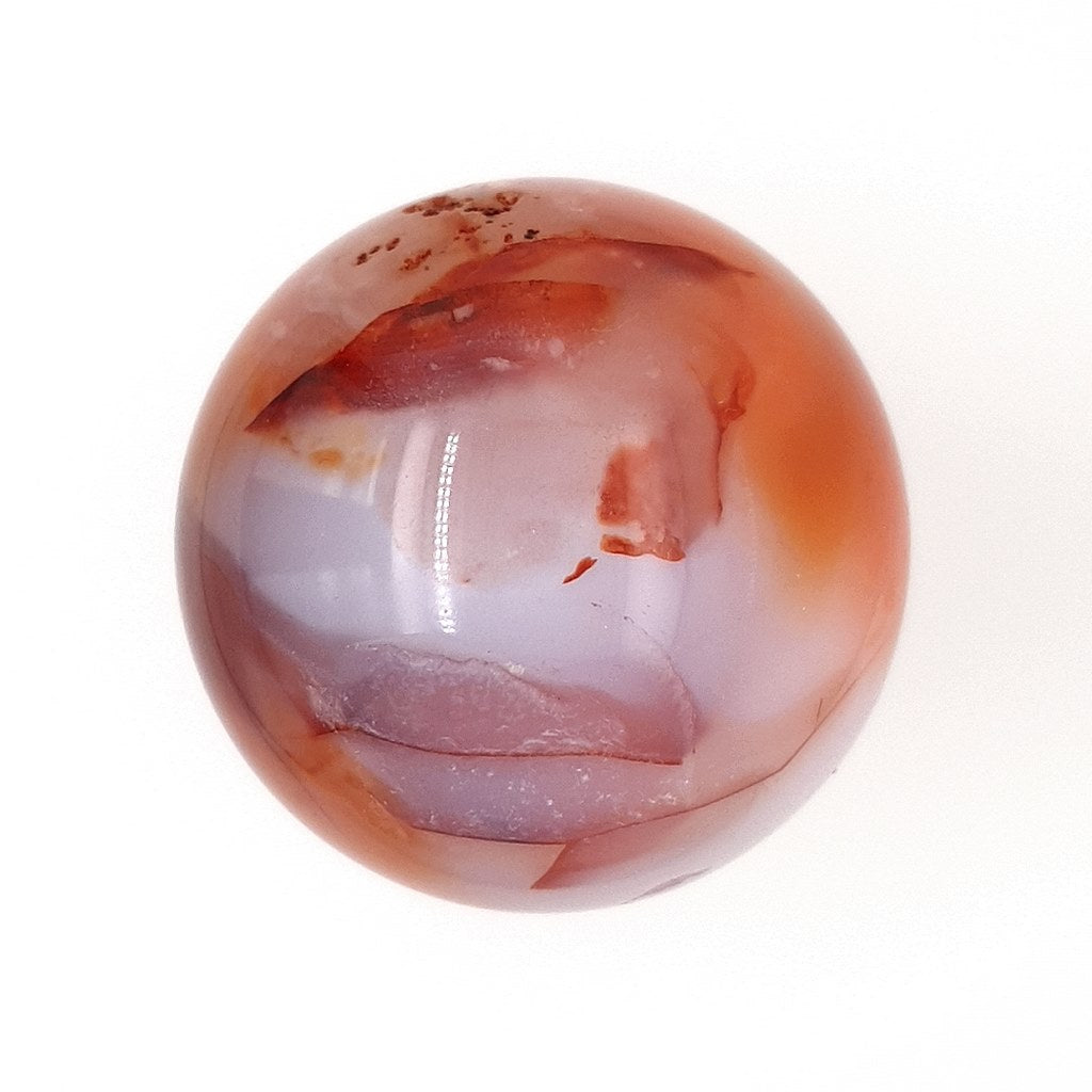 Carnelian Crystal Sphere - Polished Gemstone for Home Decor & Energy Healing