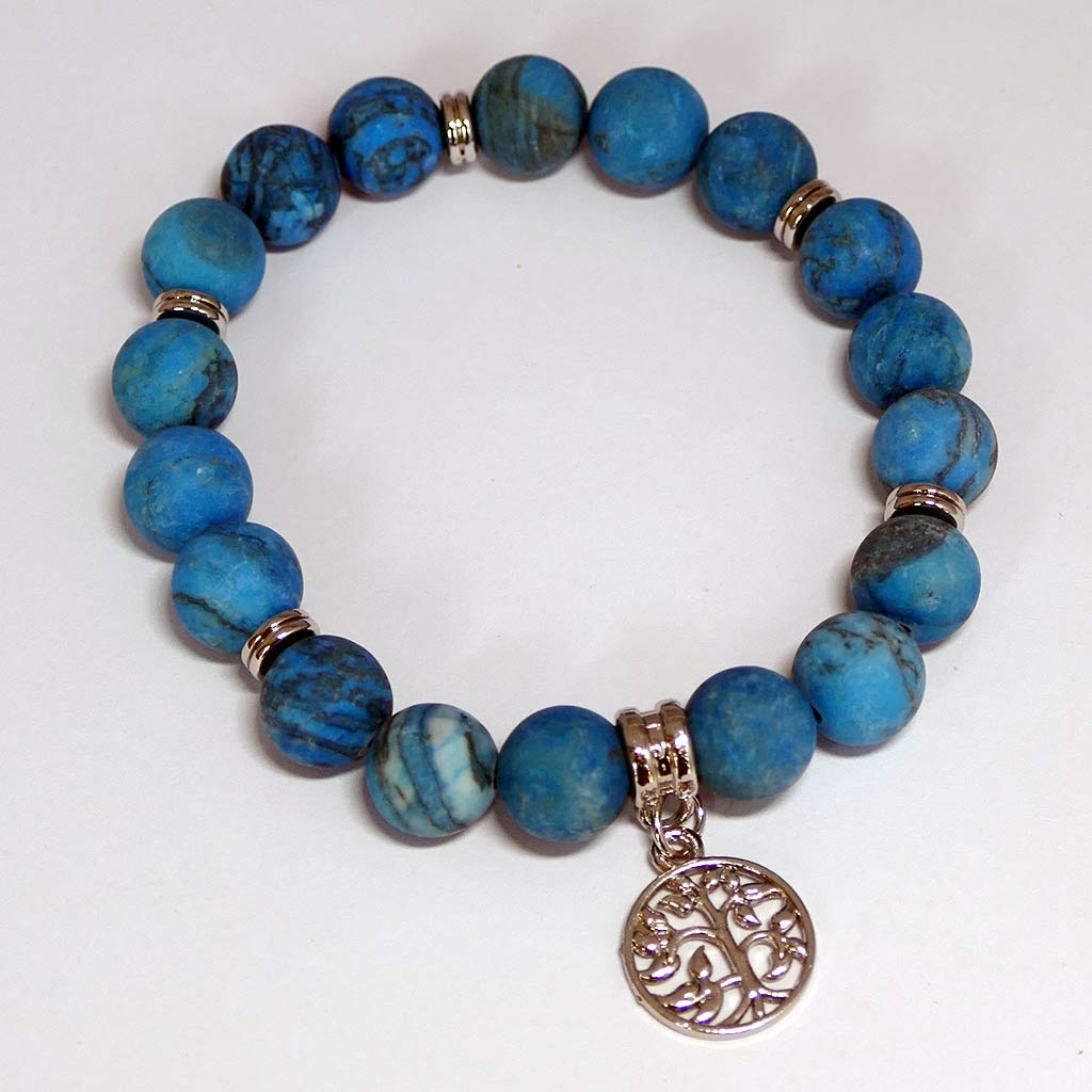 chrysocolla bracelet with charm