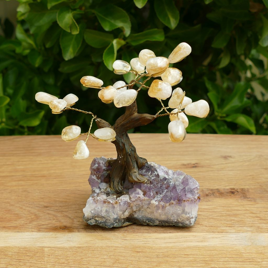 citrine bonsai gem tree
