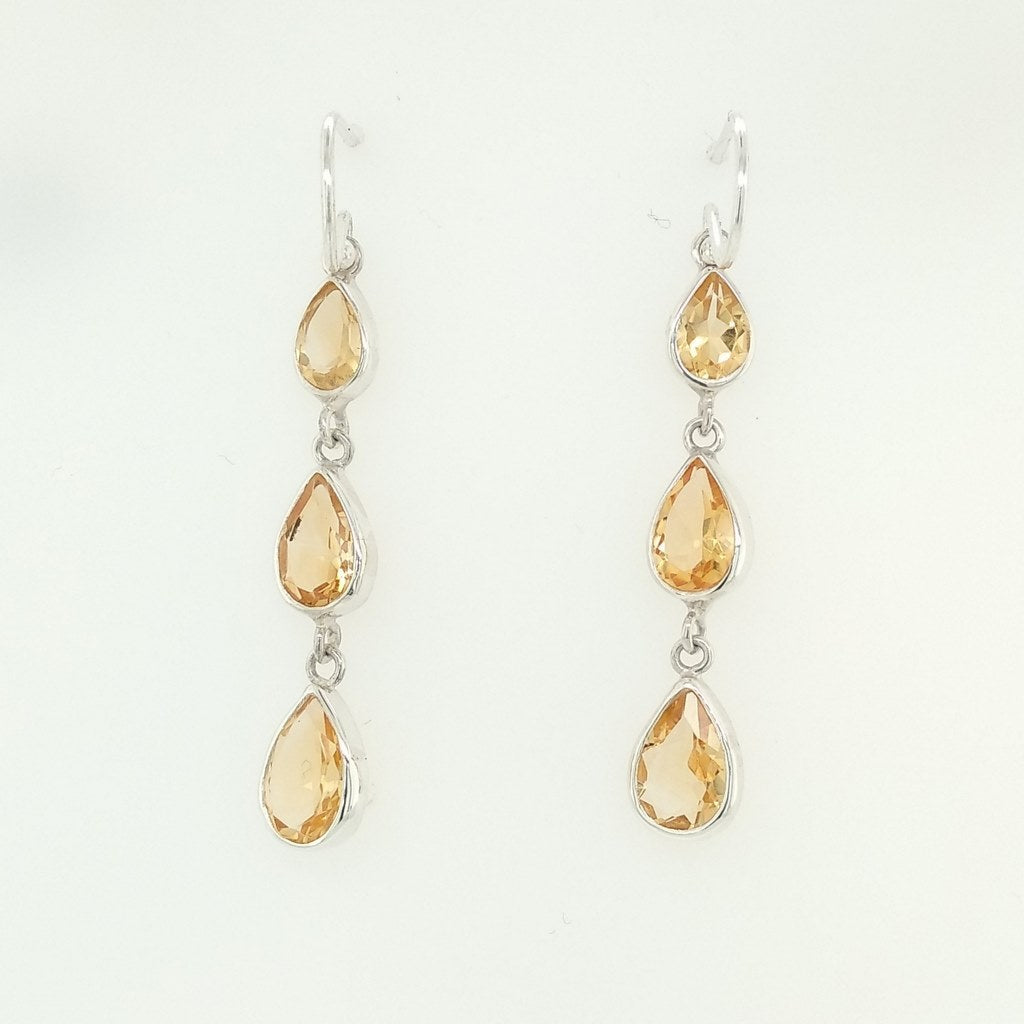 Citrine Faceted Earrings