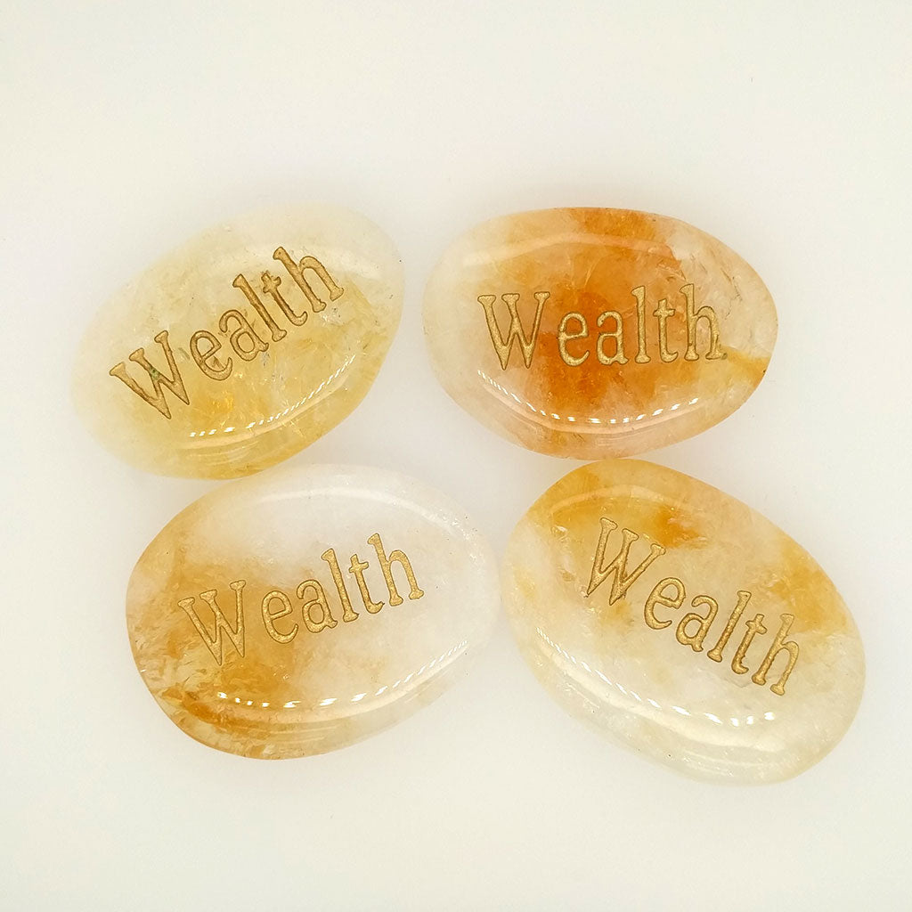 wealth word stones
