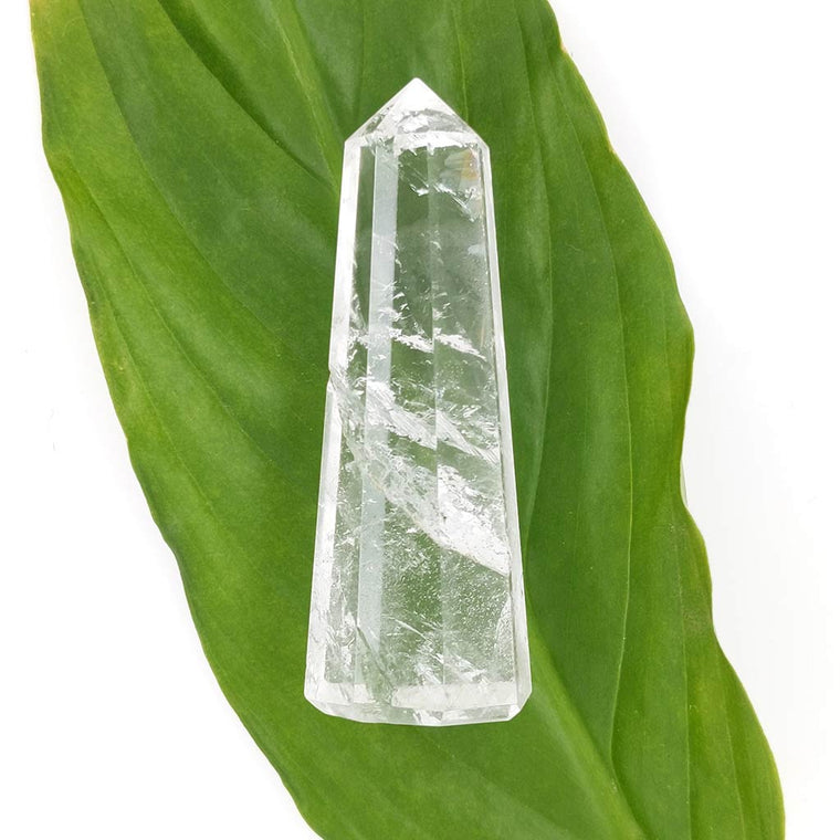 clear quartz obelisk