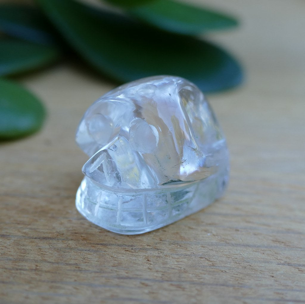 small clear quartz skull