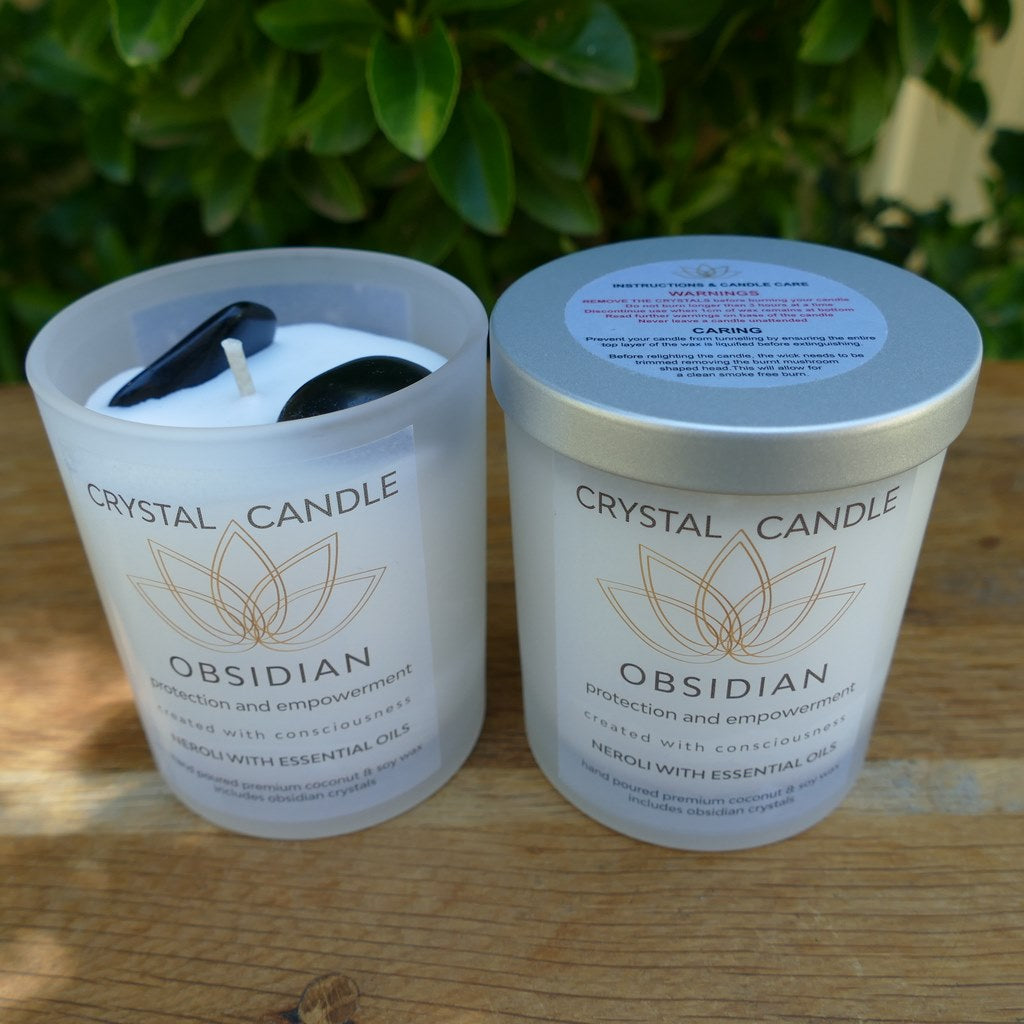 Crystal Candles with Essential Oils