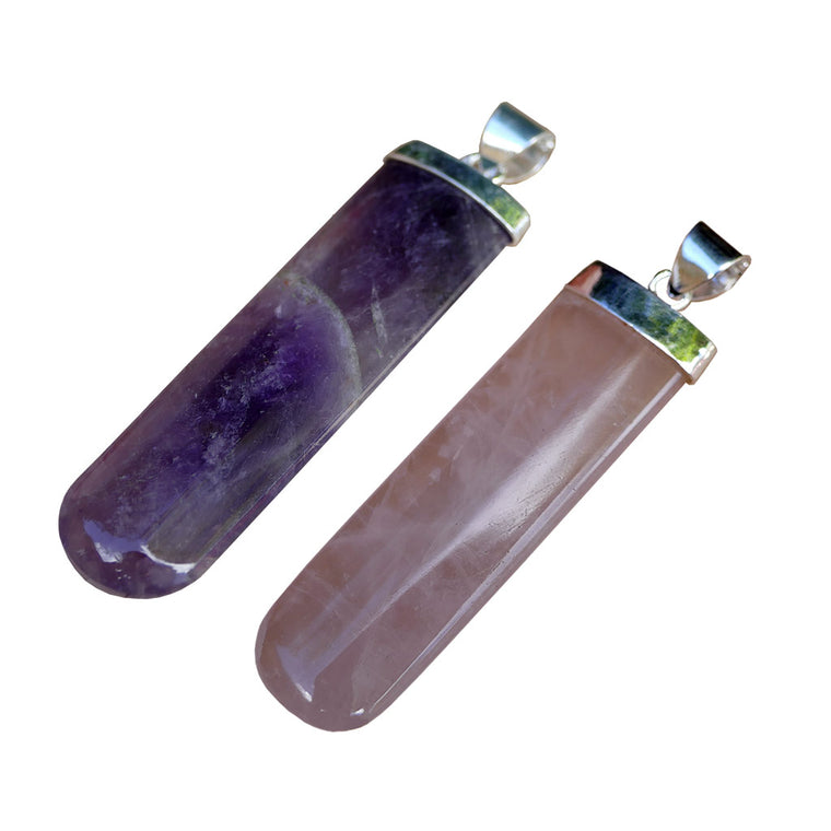 Crystal Pendants amethyst rose quartz