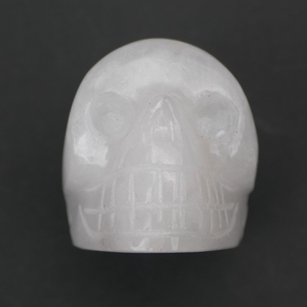 Crystal Skull Head in White Aventurine