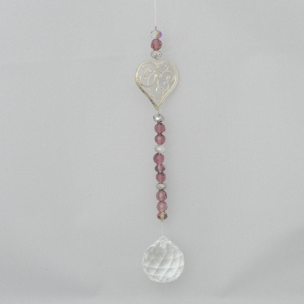 Crystal Suncatchers with Silver Charms