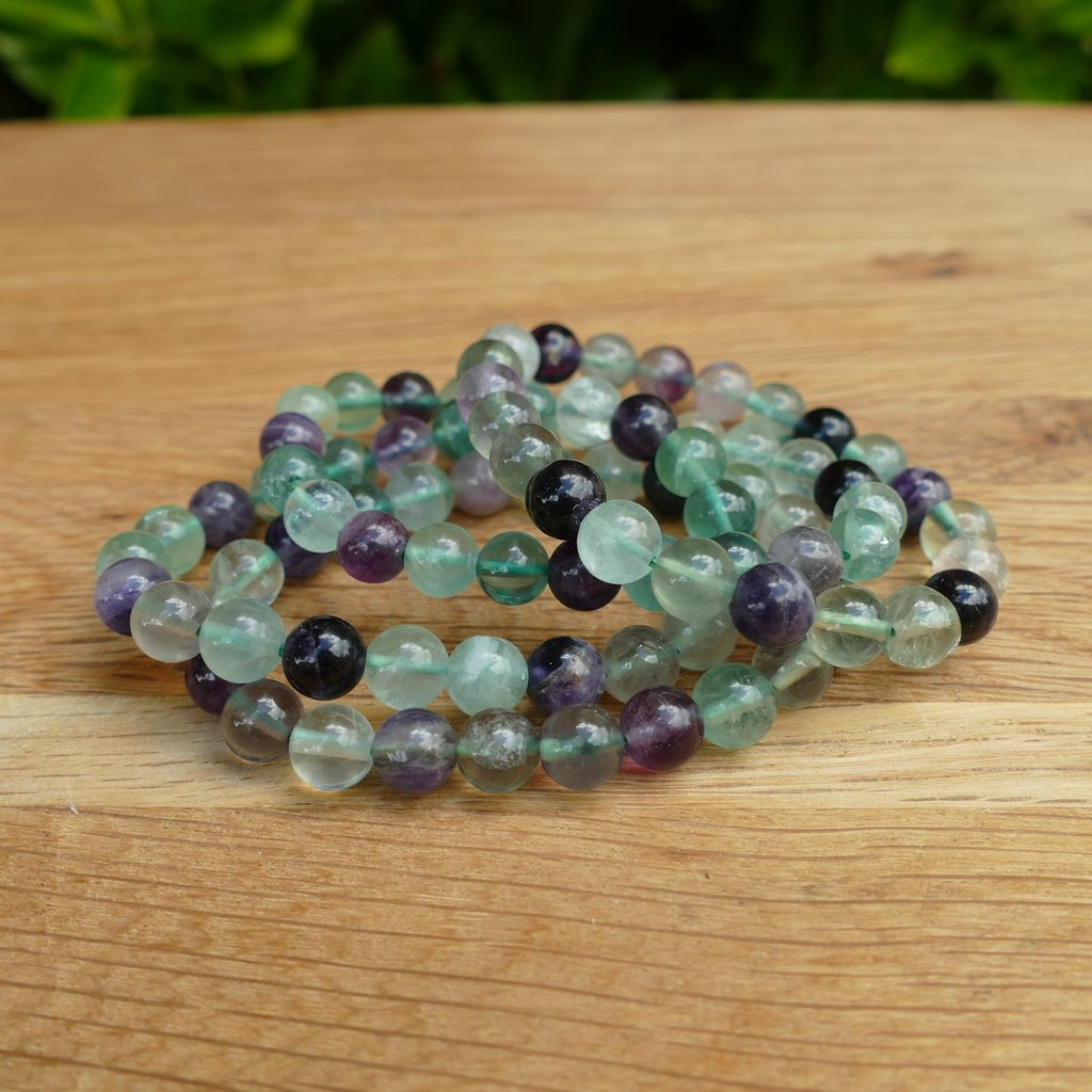 Fluorite Bracelet with Beautiful Shiny Beads