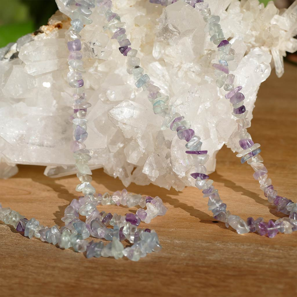 Fluorite Chip Necklace 36inch
