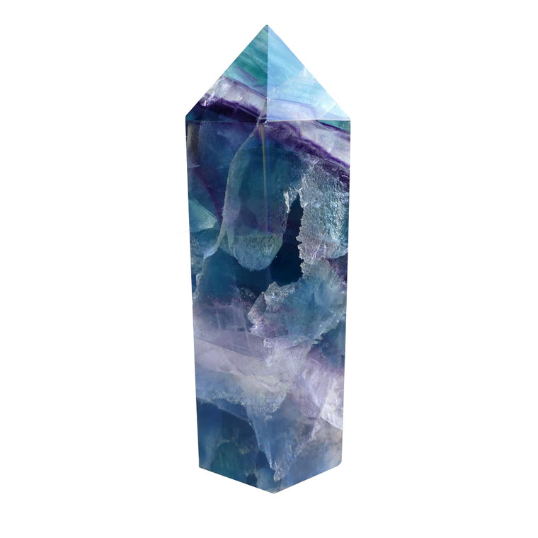 Fluorite Point Crystals with Green & Purple Colours