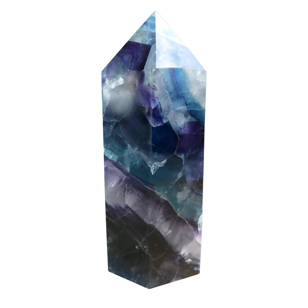 Fluorite Crystal Points with Green & Purple Shades
