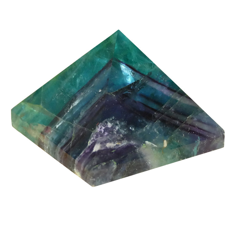 Fluorite Crystal Pyramids with Purple and Greens
