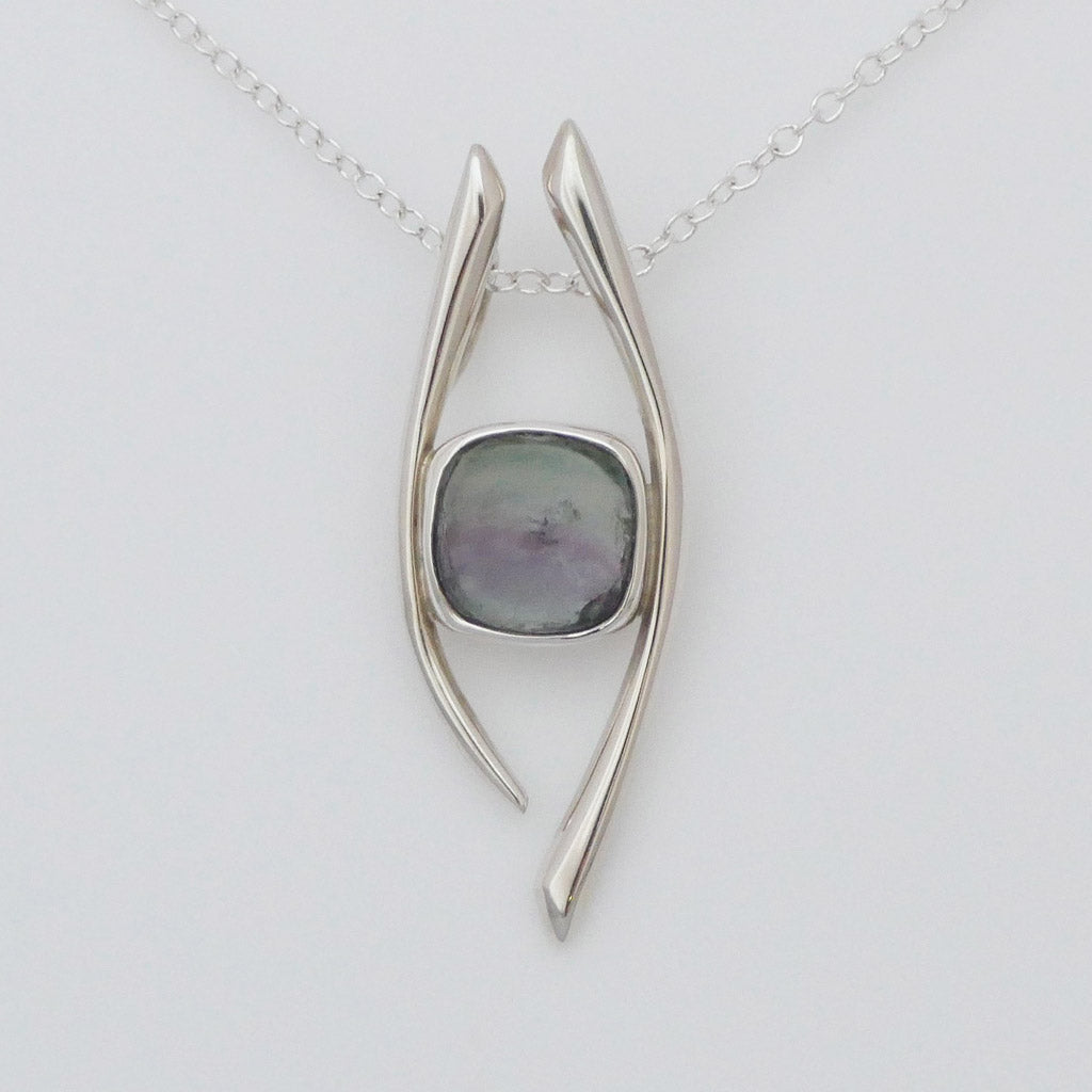 Fluorite Crystal Pendant designed by Blue Turtles