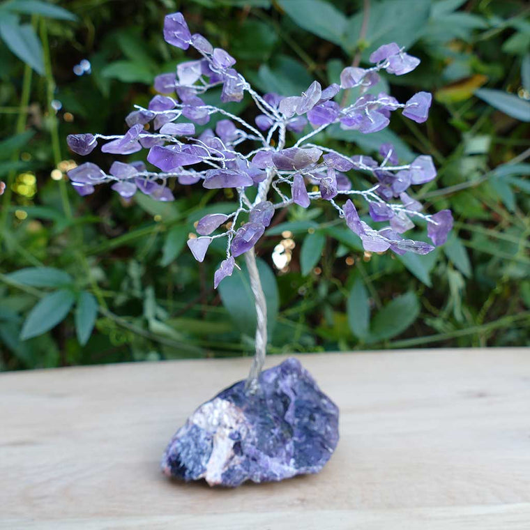amethyst crystal gem tree