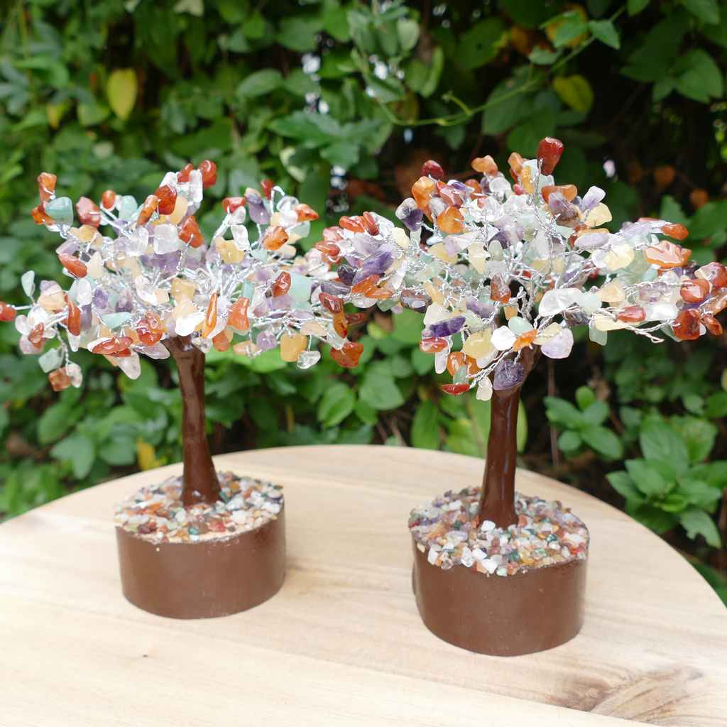 Crystal Gem Tree on Wooden Base - Mix
