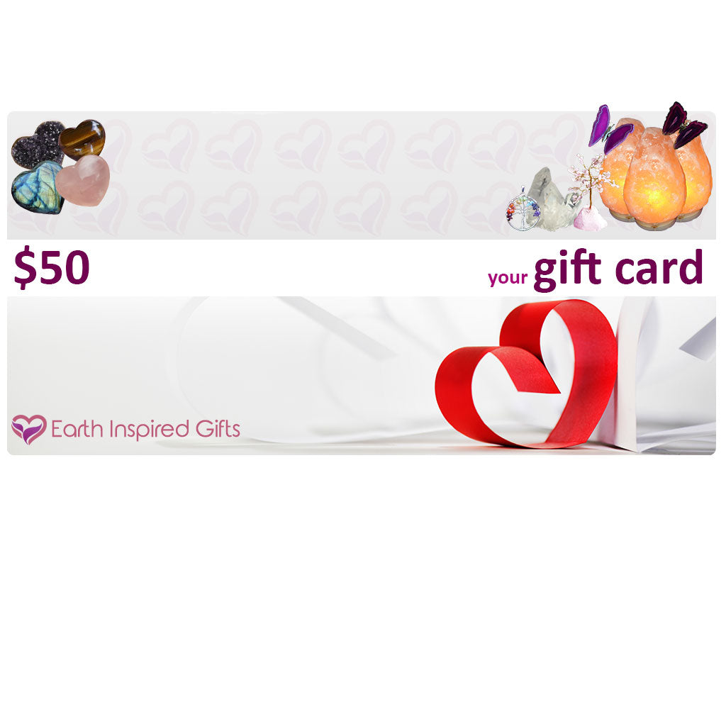 gift cards crystal jewellery