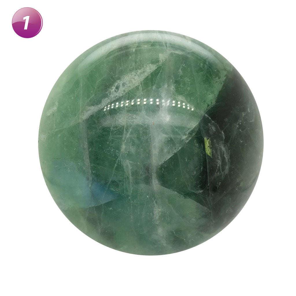 Large green Fluorite Spheres