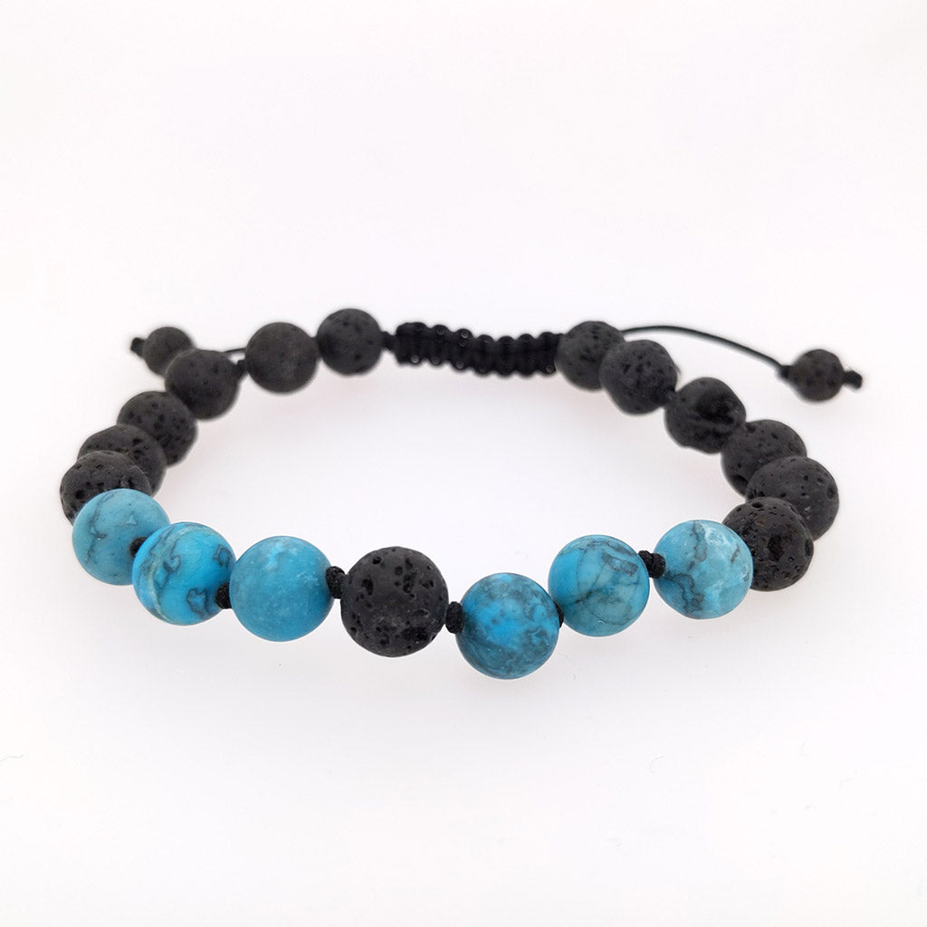 chrysocolla healing bracelet with crystals lava aroma oil