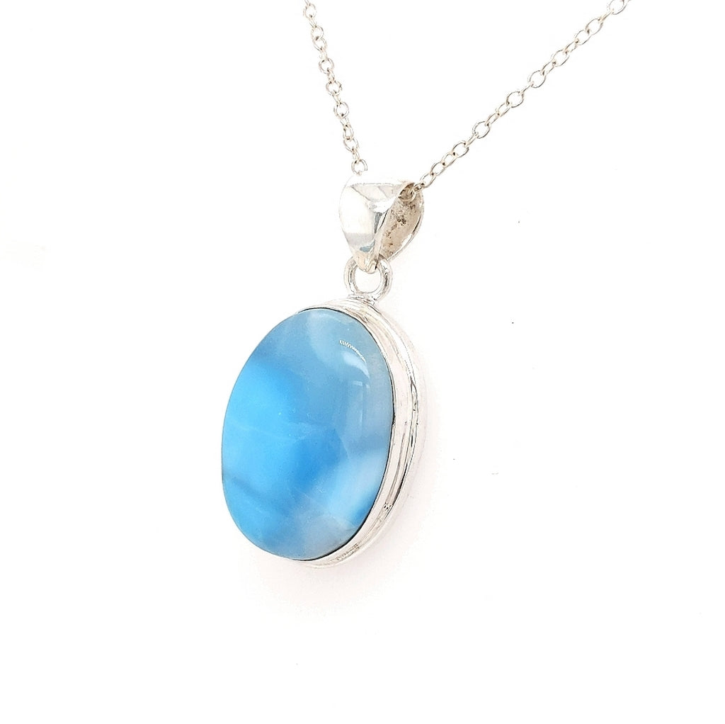 Larimar Pendant in Sterling Silver