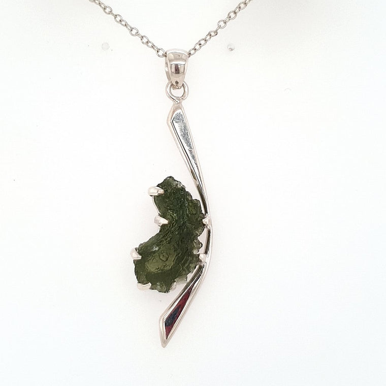 Moldavite Pendant Jewellery in 925 Sterling Silver
