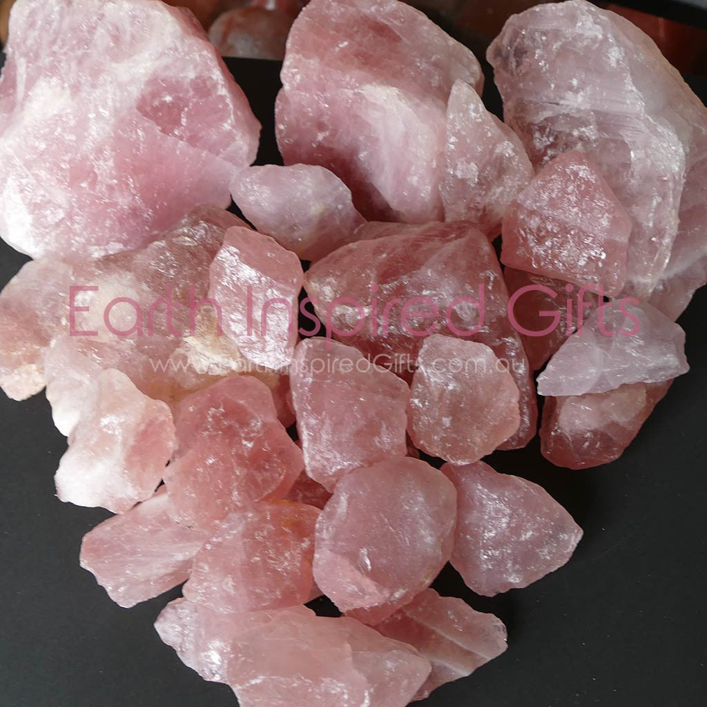 small rose quartz pieces