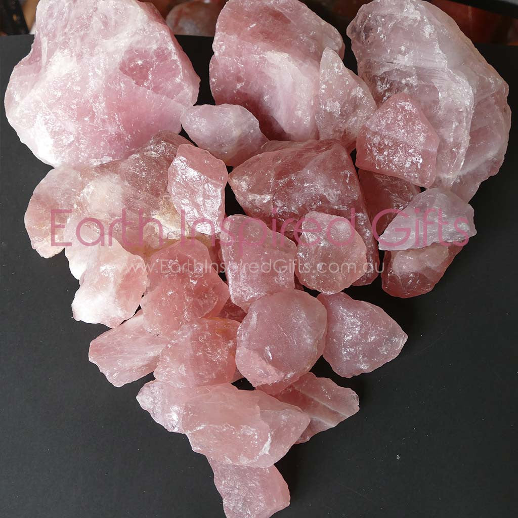 natural rose quartz gems