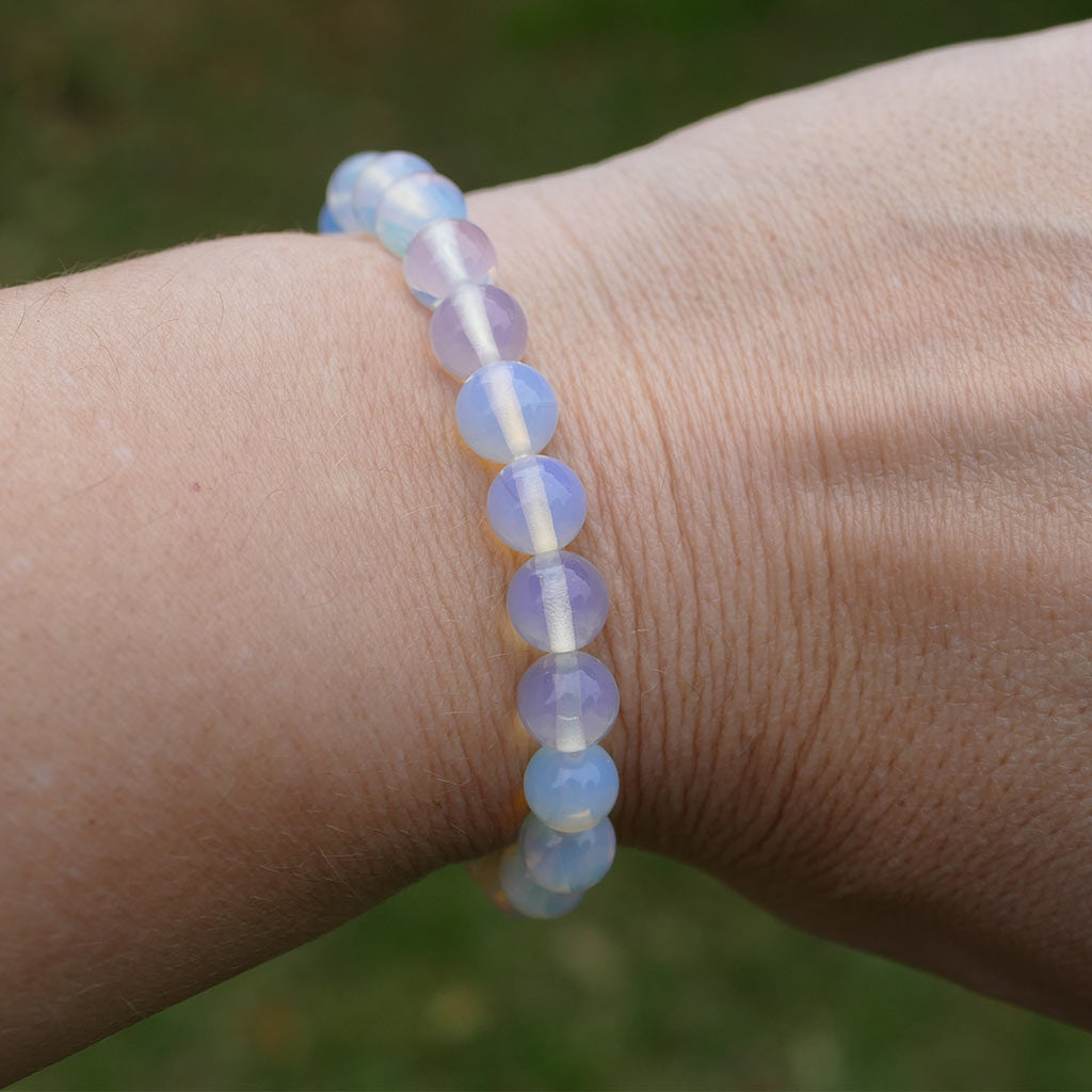 Opalite Bracelet with Beautiful Shiny Beads
