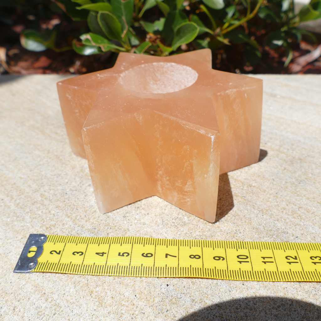 natural Selenite Star Candle Holder
